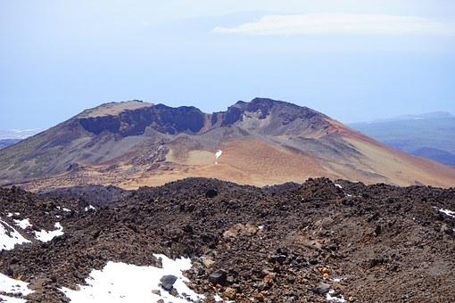 Pico Viejo, Volcano, Volcanic Crater, Crater, Mountain