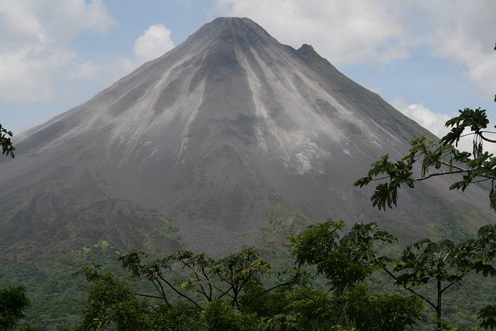 Volcano, Costa Rica, Landscape, Mountain, Active