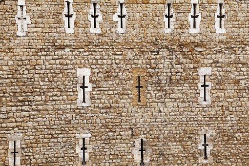 Architecture, Arrow, Brick, Castle, Cross, Defense