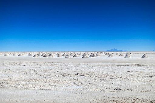Salt Lake, Salt, Minerals, Atacama Desert, Chile