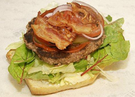 Burger, Bacon, Tomato Ketchup, Under The Bun