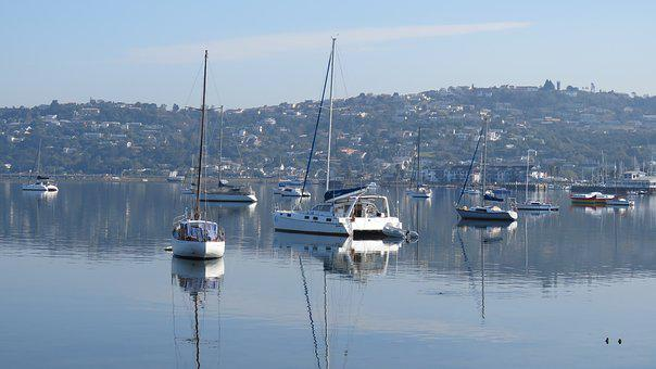 Boats, Knysna, Water, Sea, Ocean, Sail, South Africa