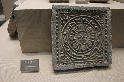 Tang Dynasty, Lotus Design, Brick, China, Xi'an, Museum