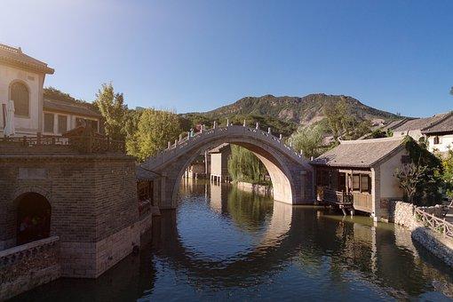 Bridge, Water, River, Web, Nature, Bach, Lake