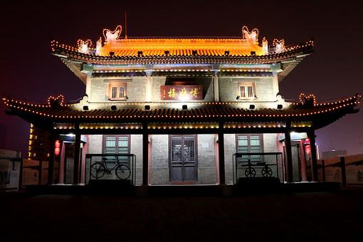 The Scenery, Xi'an, History, Late, Lights, Building