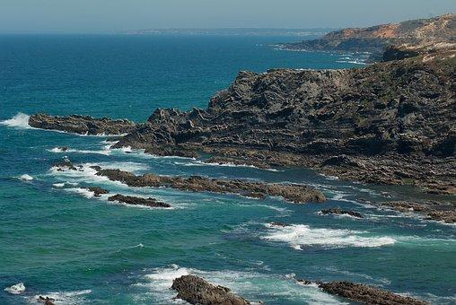 Portugal, Algarve, Cliff, Cape Vicente, Ocean, Erosion