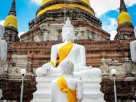 Wat-yai-chai-mongkhom, Church, Thailand, Buddha