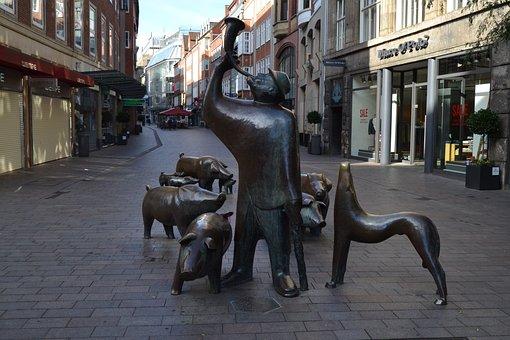 Bremen, City, Sögestraße, Pigs, Pigman