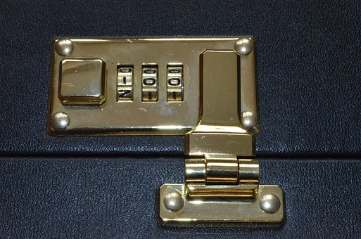 Combination Lock, Luggage, Snap Lock