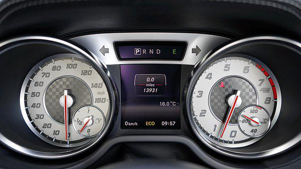 Car, Interior, Speedometer, Dashboard, Control