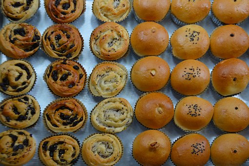 Buns, Cakes, Food, Sweet, Meal, Dessert, Pastry, Bakery