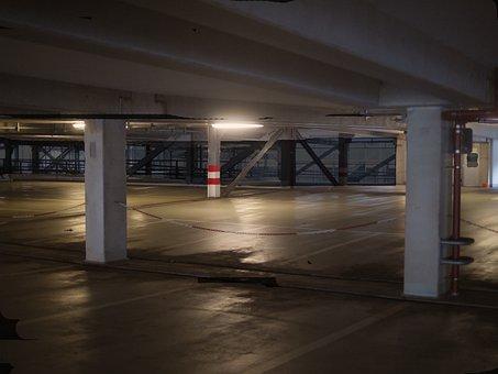 Multi Storey Car Park, At Night, Empty, Dark, Weird