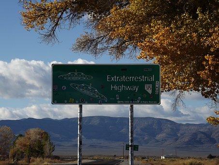 Highway, Nevada, Extra Terrestrial, Aliens, Ufo