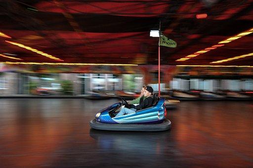 Bumper Cars, Bump, Fair, Amusement, Park, Enjoyment