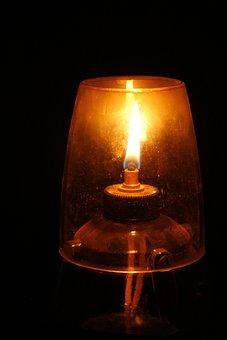 Oil Lamp, Wick, Flame, Illuminate, Oil, Light, Glass