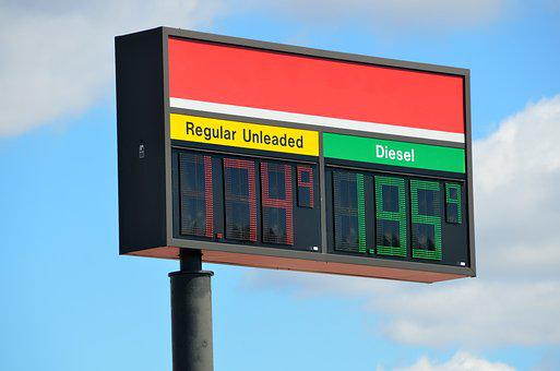 Gas, Fuel, Sign, Price, Station, Diesel, Fuel Icon