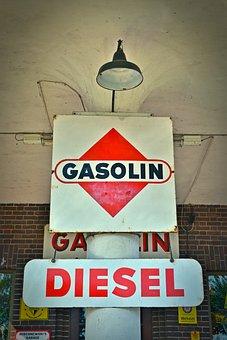 Advertisement, Shield, Advertising Sign, Gasolin, Fuel