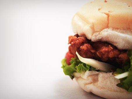 Hamburger, Burger, Bun, Grilled, Seed, Sandwich