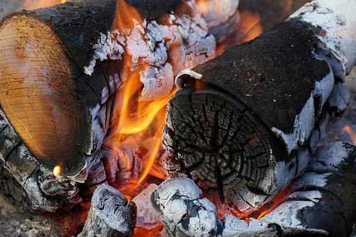 Fire, Grill, Wood, Flame, Barbecue, Burn, Embers, Heat
