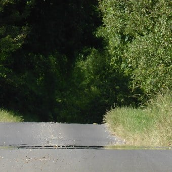 Road, Asphalt, Tar, Heat, Away, Bump