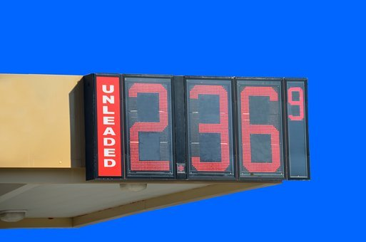 Gas Price, Sign, Fuel, Unleaded, Isolated Background