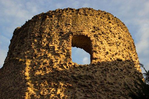Keep, Burgruine, Three Oak Grove, Castle, Historically