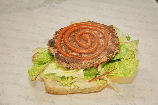 Burger, Cooking, Salad, Ketchup, Tomato Ketchup, Tastes