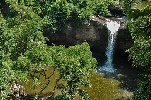 Landscape, Waterfall, Khao Yai, Thailand