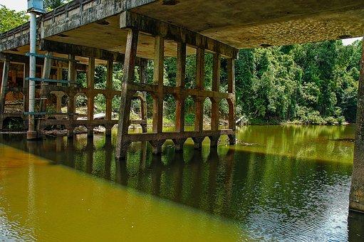 Landscape, River Landscape, Bridge, Khao Yai, Thailand