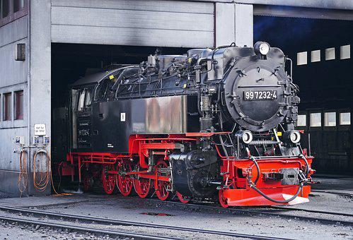 Steam Locomotive, Locomotive Shed, Wernigerode