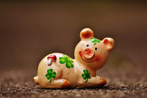 Lucky Pig, Figure, Luck, Lucky Charm, Funny, Sweet