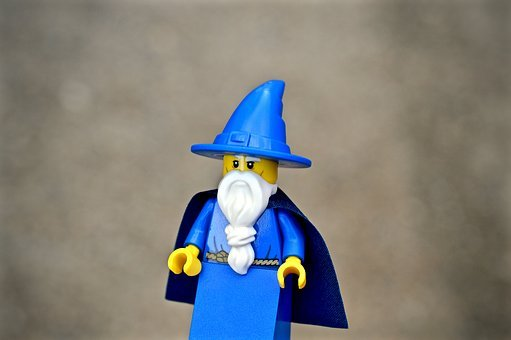 Wizard, Sorcerer, Lego, Action Figure, Toy, Witch, Man