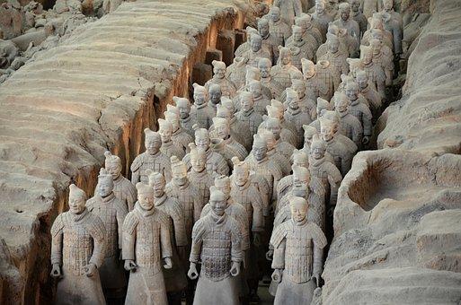 China, Xi'an, Mausoleum, Emperor, Qin, Terracotta Army