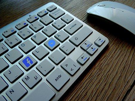 Keyboard, Facebook, Media, Social Media, Message, Like