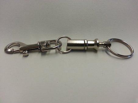 Keychain, Snap Hook, Metal, Eyelet, Key Ring, Iron