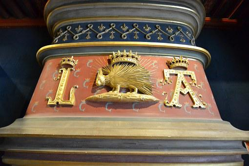 Louis Xii, Porcupine, Crown, Monogram, Fireplace