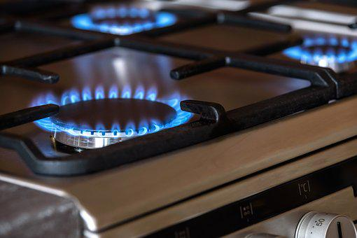Gas Burners, Cooker, The Flame, Blue, Oven, Cooking