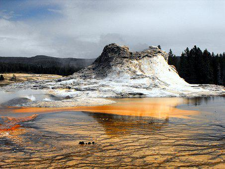 Old Geyser, Water, Park, Geyser, Yellowstone, Old