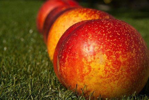 Peach Fruit, Vitamins, Ripe, Red, Fresh