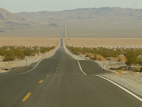 Road, Straight Road, Route, America, Usa, Freedom