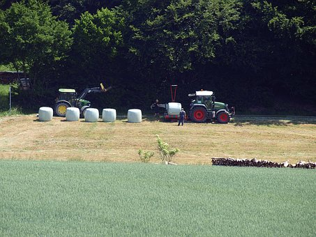 Agriculture, Hay Bales, Silage, Tractors, Fragmented