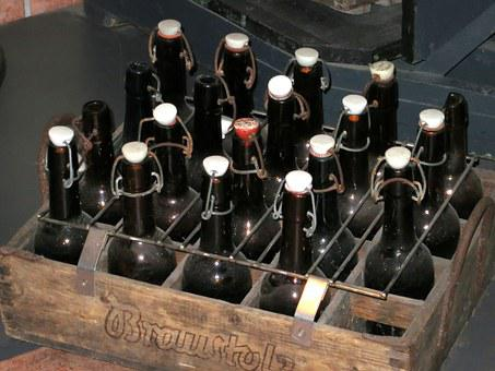 Beer Bottles, Old, Museum, Historically, Snap Lock