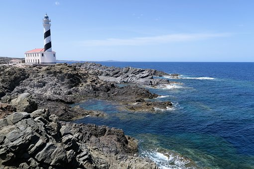 Side, Lighthouse, Minorca, Cape Favaritx, Spain