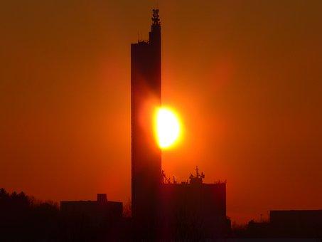 Sun, Fireball, Sunset, Afterglow, Abendstimmung