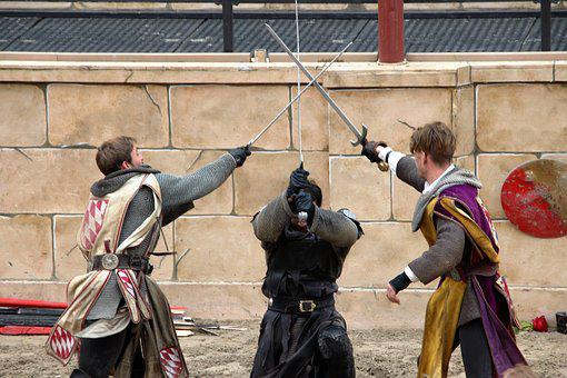 Middle Ages, Fight, Sword Fighting, Knight, Duel, War