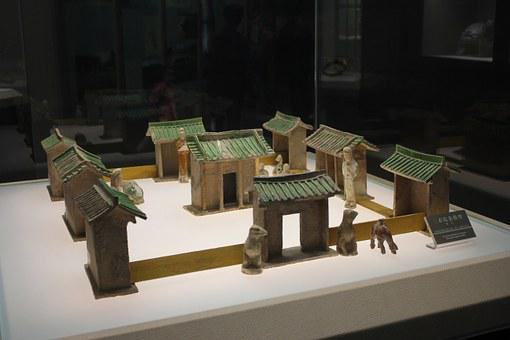 Tang Dynasty, China, Xi'an, Museum, Model, House