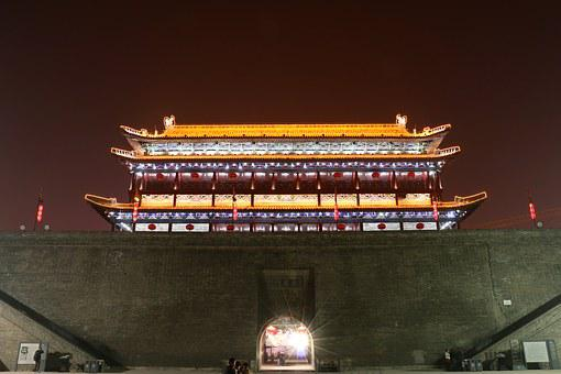 The Scenery, Xi'an, China, The Bell Tower, Asia
