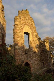 Burgruine, Three Oak Grove, Castle, Historically
