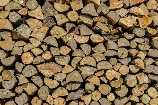 Firewood, Wood, Stacked, Stack, The Background, Tree
