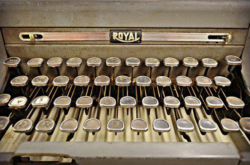 Vintage, Antique, Typewriter, Historic, History, Old